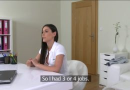 Mladá holka z Olomouce na erotickém castingu