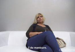 Kyprá blondýna Sylvia původem z Bratislavy na českým castingu