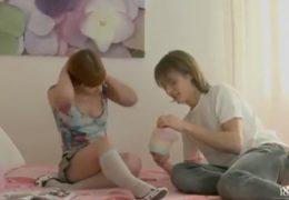 Mladá ruská školní láska