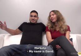 Sex dvou přátel Markéty a Davida exkluzivně na českým castingu