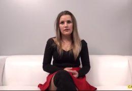Sexy holka původem z Maďarska si na casting vzala přítele