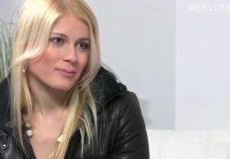 Blonďatá bisexuálka Sandra na castingu